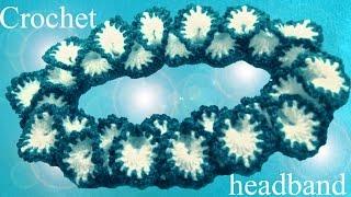 Download Tejer con gancho Crochet diadema en punto pétalos de orquídeas Video