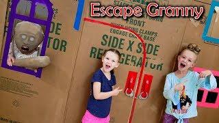 Download Escape the Babysitter Granny in Real Life Escape Room! We Lock Granny in Box Fort!!! Video