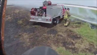 Download Grass Fire Naval Air Base Field Video