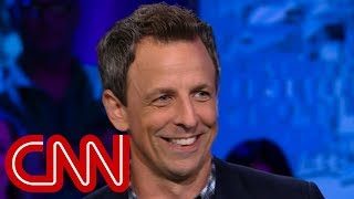 Download Seth Meyers explains why he's tough on Trump Video