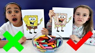Download 3 MARKER CHALLENGE With Spongebob Squarepants | Toys AndMe Video