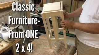 Download Classic Furniture made from ONE 2x4! Video