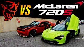 Download Dodge SRT Demon vs McLaren 720s 1/4 MILE DRAG RACE | Demonology vs StreetSpeed717 Video