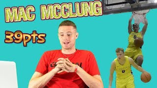 Download Professor Reacts to Mac McClung Georgetown Kenner League 39 points, INSANE dunks! Video
