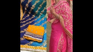 Download Heavy Dupatta style with plain suits//Punjabi suit Designer Dupaatas Video
