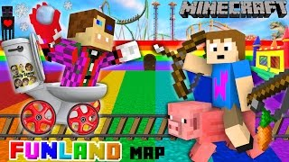 Download Duddy & Chase go to FUNLAND 3! Minecraft Amusement Park Map (FGTEEV Theme Park Mod Gameplay) Video