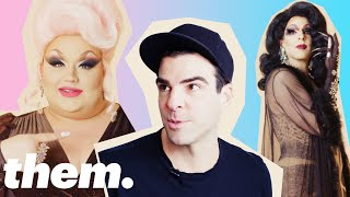 Download Eureka O'Hara Gives Zachary Quinto a Drag Makeover | them. Video
