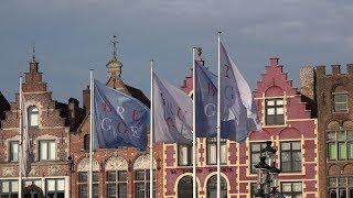 Download Northern Europe - Belgium Bruges - between Belfry and De Dijver Video