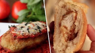 Download Stuffed Chicken Parm VS Chicken Parm Stuffed Garlic Bread- Buzzfeed Test #47 Video