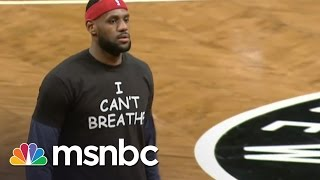 Download LeBron James Wears 'I Can't Breathe' Shirt | msnbc Video