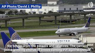Download US airlines won't transport migrant children Video