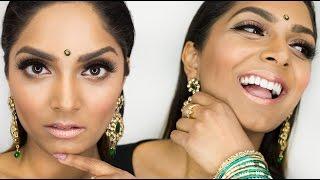 Download GRWM! My Simple Indian Wedding Makeup Look for Guests | Deepica Mutyala Video