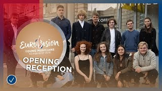 Download Musicians meet each other at the opening reception in Edinburgh Video