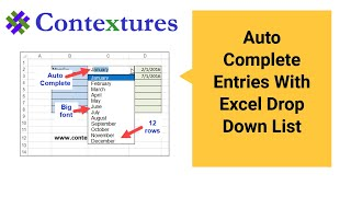 Download Autocomplete Entries With Excel Drop Down List Video
