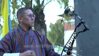 Download Archery or 'Dha', the national sport of Bhutan Video
