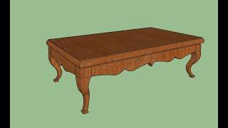 Download SketchUp โต๊ะขาสิงห์ (table Thailand style) โดย ครูสุธีรัชต์ บุรีรัมย์พิทยาคม Video