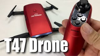 Download GoolRC T47 FPV Drone Foldable with Wifi Camera Live Video Review Video