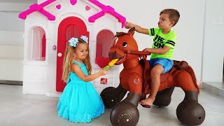 Download Diana Pretend Play with Ride On Horse Toy Video