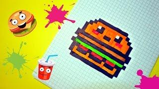Download Рисуем по клеточкам- БУРГЕР (BURGER) ! Video
