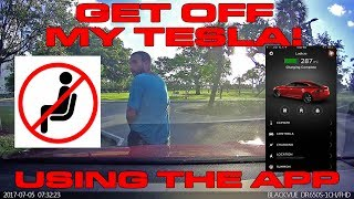 Download Scaring a guy sitting on my Tesla P100D using the App - Honk Horn or Summon? Video