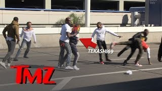 Download Rapper Tekashi69 and Crew in Massive Brawl at LAX Video
