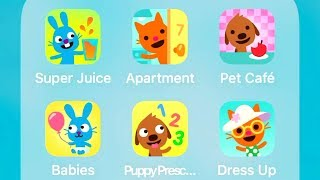 Download Sago Mini Super Juice,Apartment,Pet Cafe,Babies,Puppy Preschool,Babies Dress Up Video