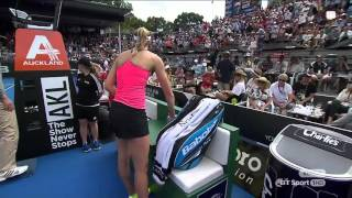 Download Ostapenko throws her racket at a ballboy Video