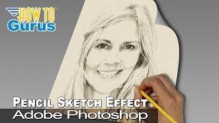 Download Photoshop Pencil Sketch Art Effect from a Portrait Photo : CC 2018 CS6 CS5 Tutorial Video