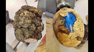 Download Woodturning - One Big Ugly Burl into a dragon egg !! Video