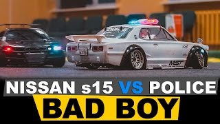 Download RC DRIFT CAR Nissan Silvia s15 VS Police CAR Video
