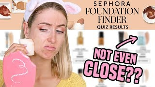 Download I Took SEPHORA'S FOUNDATION FINDER QUIZ & Bought Their Recommendations...? Video