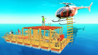 Download HELICOPTER CAME TO RESCUE US! (Raft) Video