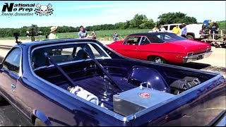 Download Nitrous assisted El Camino vs Cherry Bomb Nova in Kansas equalizer small tire shootout Video