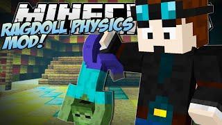 Download Minecraft | RAGDOLL PHYSICS MOD (Epic New Death Animation!) | Mod Showcase Video