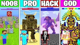 Download Minecraft Battle: SUPER BOSS FIGHT CHALLENGE - NOOB vs PRO vs HACKER vs GOD ~ Minecraft Animation Video