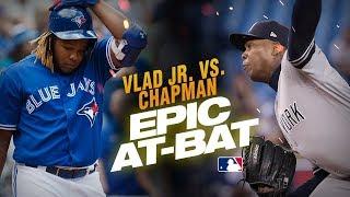 Download Vlad Guerrero Jr. and Aroldis Chapman show down for epic 13-pitch at-bat Video