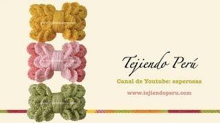 Download Lazos para el cabello a crochet en punto cocodrilo o escamas (crocodile stitch bow) Video