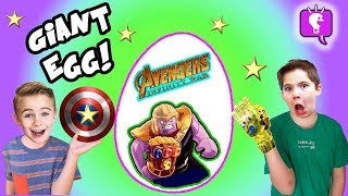 Download GIANT AVENGERS EGG with Nerf Blasters and Infinity LEGO Toy Surprises by HobbyKids Video
