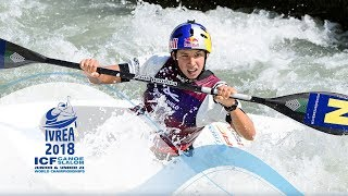 Download 2018 ICF Canoe Slalom Jnr & U23 World Championships Ivrea / Jnr Heats – C1m, K1w Video