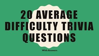 Download 20 Trivia Questions (General Knowledge) No. 3 Video