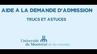Download Aide à la demande d'admission de l'Université de Montréal Video