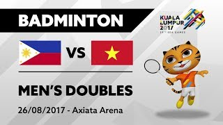 Download KL2017 29th SEA Games | Badminton - Men's Doubles - PHI 🇵🇭 vs VIE 🇻🇳 | 26/08/2017 Video