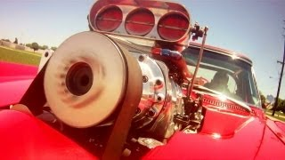 Download Driving Supercharged 454 Big-Block 1966 Corvette Pro Street Fast Lane Classic Cars Video