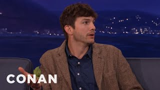 Download Ashton Kutcher Wanted To Name His New Baby Hawkeye - CONAN on TBS Video