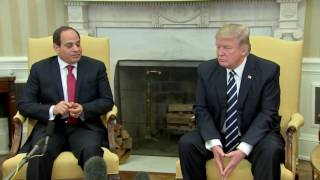 Download WATCH: President Donald Trump and Egyptian President Abdel Fattah el-Sisi In White House (FNN) Video