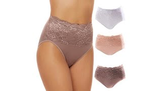 Download Rhonda Shear 3pack Seamless Lace Overlay Brief Set Video