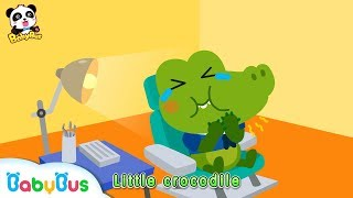 Download Little Crocodile Keeps Eating Candy All Day Long | Brush Teeth Song | Kids Good Habits | BabyBus Video