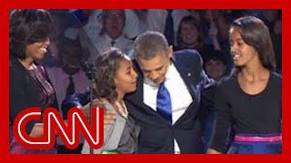 Download Sasha Obama reminds dad ″Behind you!″ Video