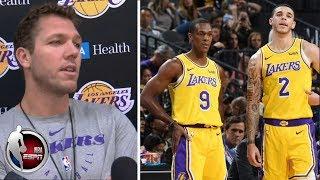 Download Lakers still undecided on Lonzo Ball as opening-night starting PG - Luke Walton | NBA Interviews Video