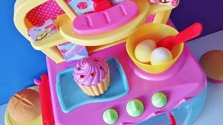 Download Electronic magic toy oven baking bread rolls muffins sparkling cupcakes cozy village Video